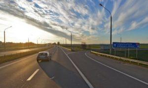 Участок 2-й кольцевой дороги вокруг Минска в районе Национального аэропорта