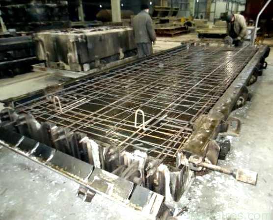 Производство плит дорожных и аэродромных
