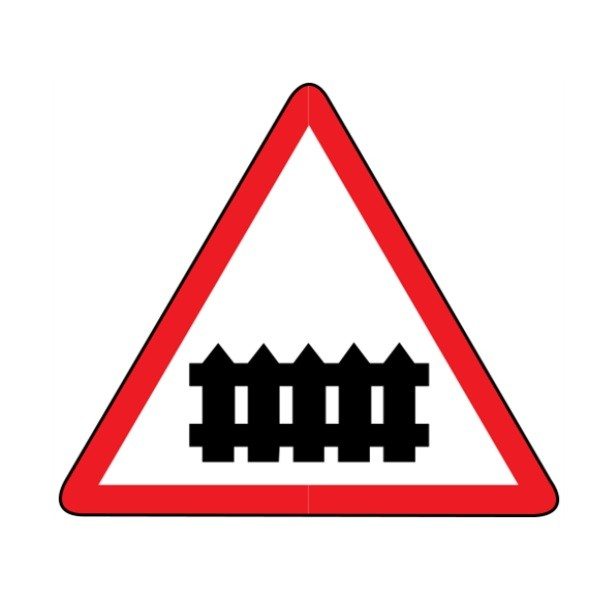 Указатель дорожный 1.1 Железнодорожный переезд со шлагбаумом