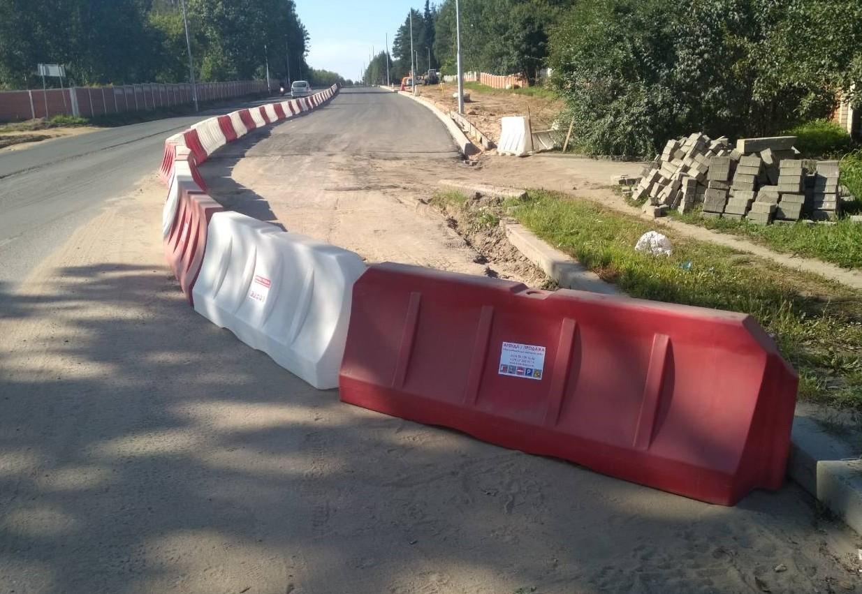 Пластиковые дорожные барьеры (блоки) 1200 и 2000 мм со склада в Минске