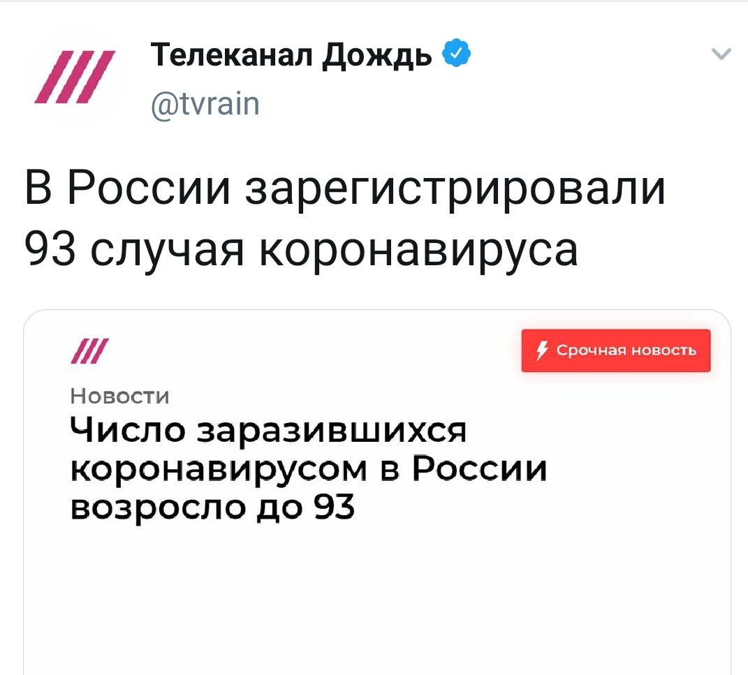 Коронавирус в России
