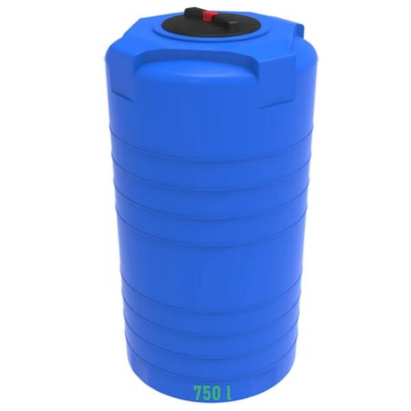 T-750 л синяя емкость (бочка) пластиковая для воды и топлива купить в Минске