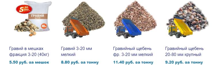 Продажа гравия и гравийного щебня в Минске. Доставка и цена.