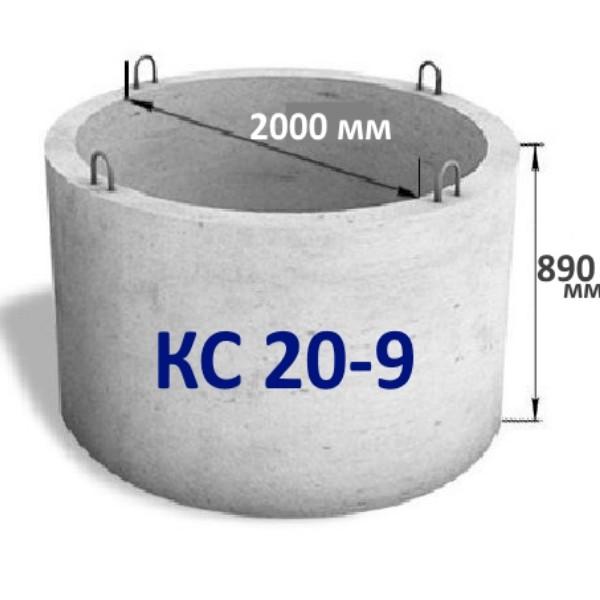 Бетонное кольцо колодца КС 20-9 в Минске