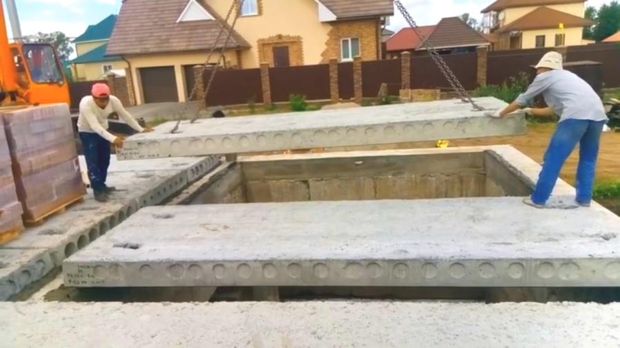 Установка плит перекрытия ПТМ (ПК) в частном доме. Минск