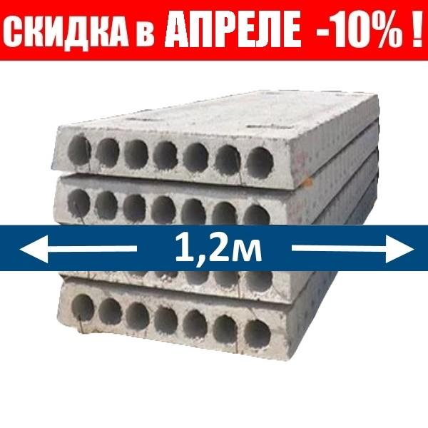 ПТМ плиты перекрытия 1,2м ширина (с петлями)