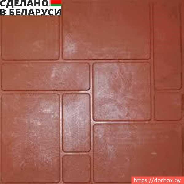 Красная плитка полимер-песчаная в Минске