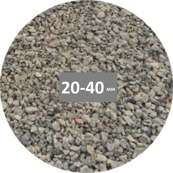 Щебень вторичный на основе боя кирпича и бетона купить в Минске фракции 20-40