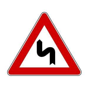 Знак дорожный 1.12.2 опасные повороты в картинках. РБ и РФ