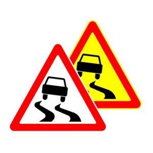 Знак дорожный скользкая дорога 1.15 в картинках